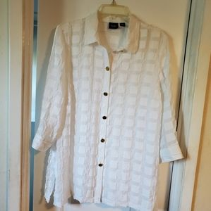Womens L (size 2) Chicos blouse